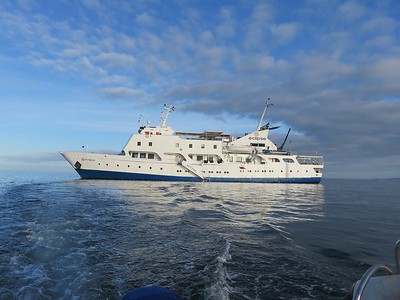 Aboard the Eclipse in the Galapagos Islands.