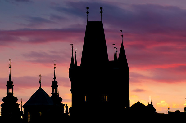 Colors over Charles Bridge