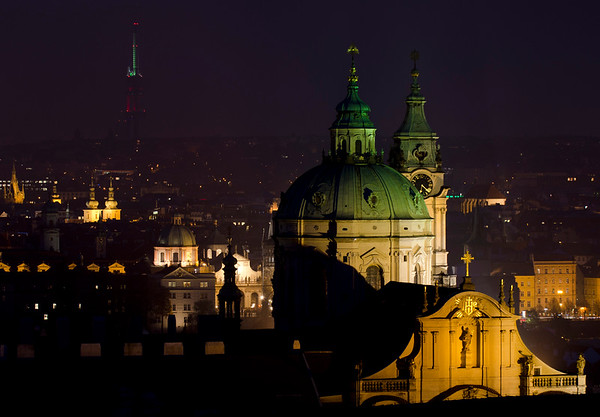 Lighting up Prague
