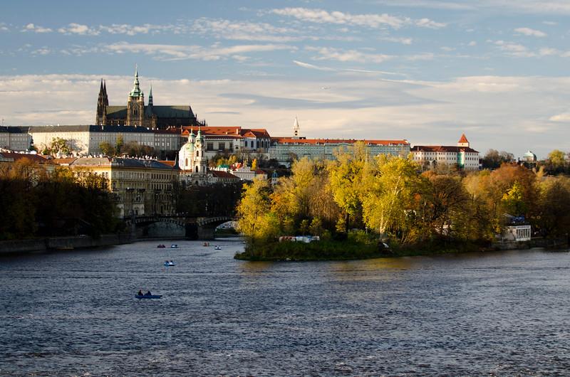 Dusk on the Vltava