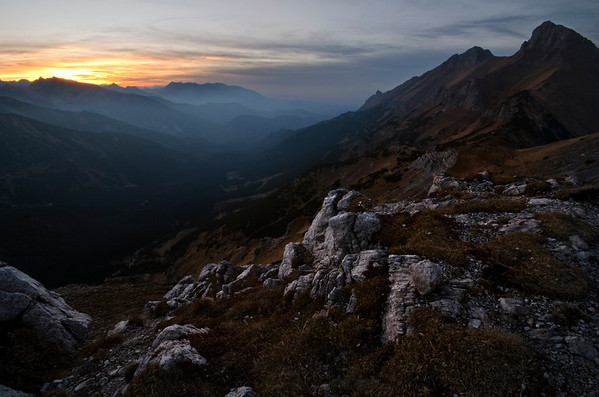 Sunset from the White Tatras