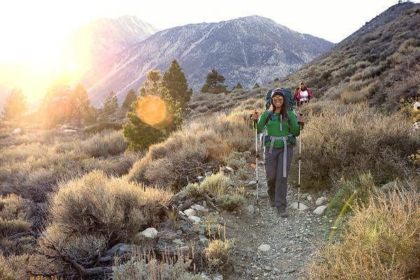 Hiiking the Big Pine Creek North Fork Trail.