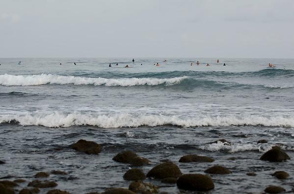 Surfers at Tunco
