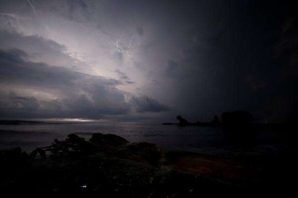 Sky full of lightning