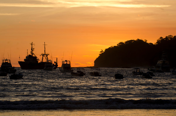 The harbor of San Juan del Sur