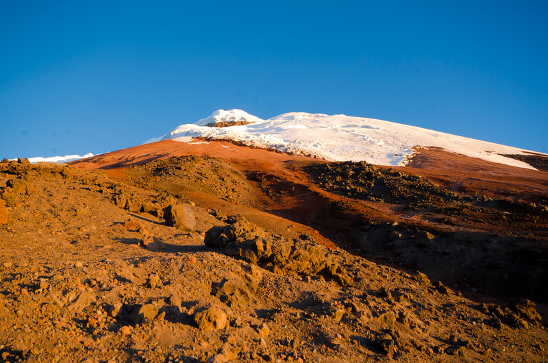 Sun setting on Cotopaxi
