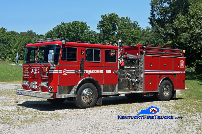 Bear Creek  Engine 33<br /> x-Highview, KY<br /> 1994 Seagrave JB 1500/1000<br /> Kent Parrish photo