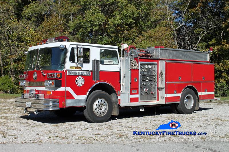 Bear Creek  Engine 31<br /> x-Orlando, FL <br /> 1983 Sutphen Deluge 1750/1000<br /> Kent Parrish photo