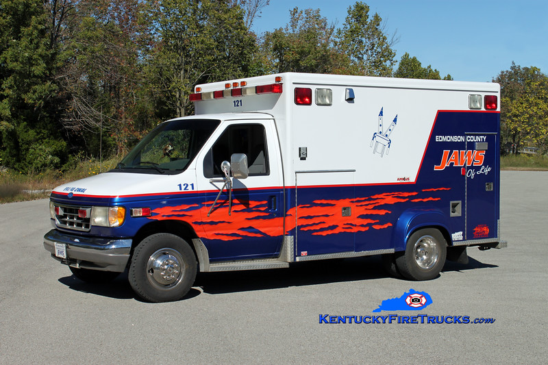 RETIRED <br /> Kyrock/Edmonson County  Rescue 121<br /> 1995 Ford E-350/McCoy Miller<br /> Kent Parrish photo