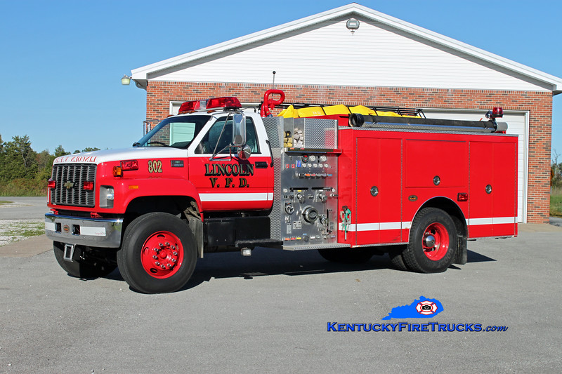 Lincoln  Engine 802<br /> 2002 Chevy C8500/KME 1250/1000<br /> Kent Parrish photo