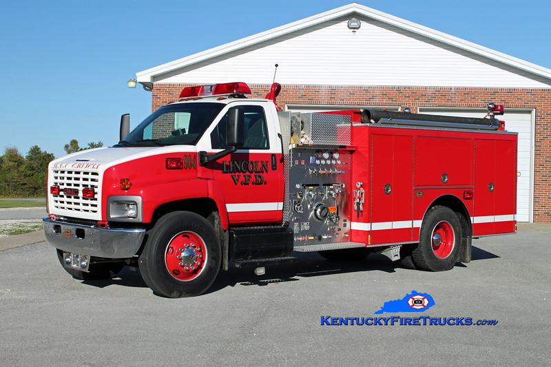 Lincoln  Engine 804<br /> 2004 GMC Topkick/KME 1250/1000<br /> Kent Parrish photo