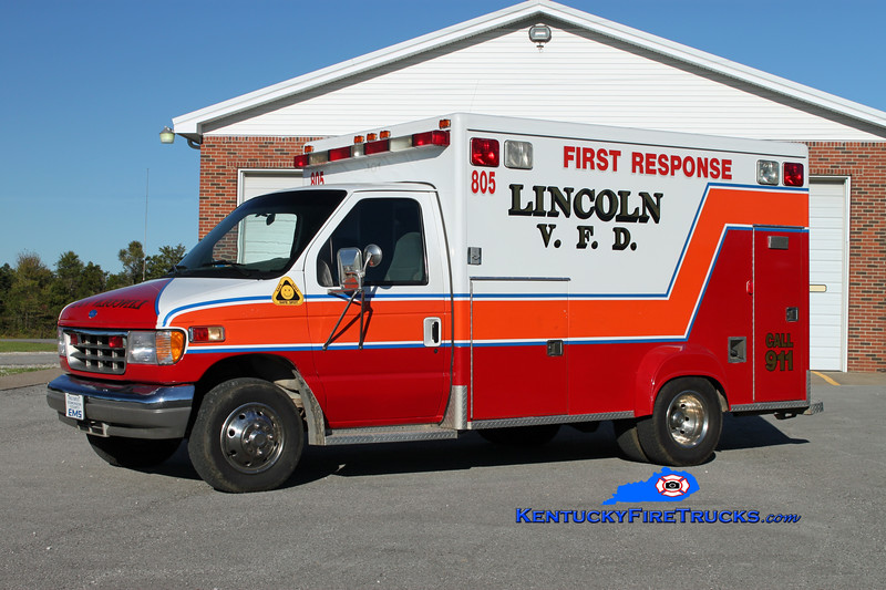 RETIRED<br /> Lincoln  Rescue 805<br /> 1994 Ford E-350/McCoy Miller<br /> Kent Parrish photo