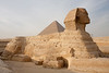 Great Sphinx and Pyramid of Khufu/Cheops, Giza, Egypt