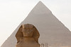 Great Sphinx and Pyramid of Khafre/Chefren, Giza, Egypt