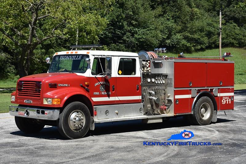 Isonville Engine 351 <br /> x-Renssaeler, NY <br /> 1992 International 4900/Quality 1250/1000<br /> Greg Stapleton photo