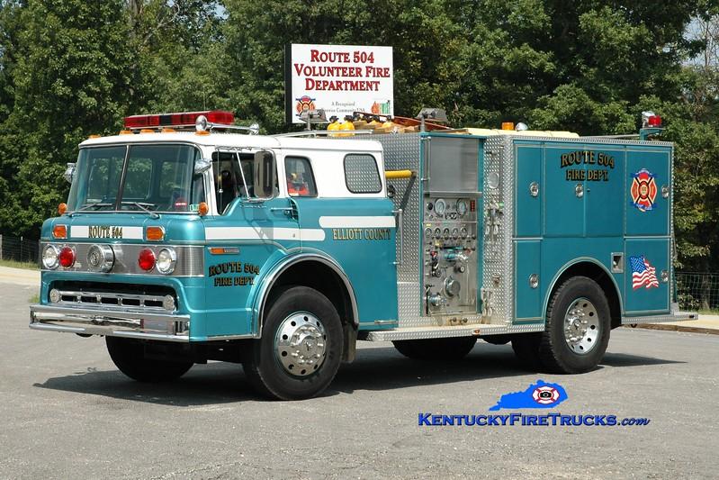 <center> Route 504  Rescue 602 <br> x-Tamaqua, PA & Elliotville, KY <br> 1984 Ford C-8000/Darley 750/750 <br> Greg Stapleton photo <br> </center>