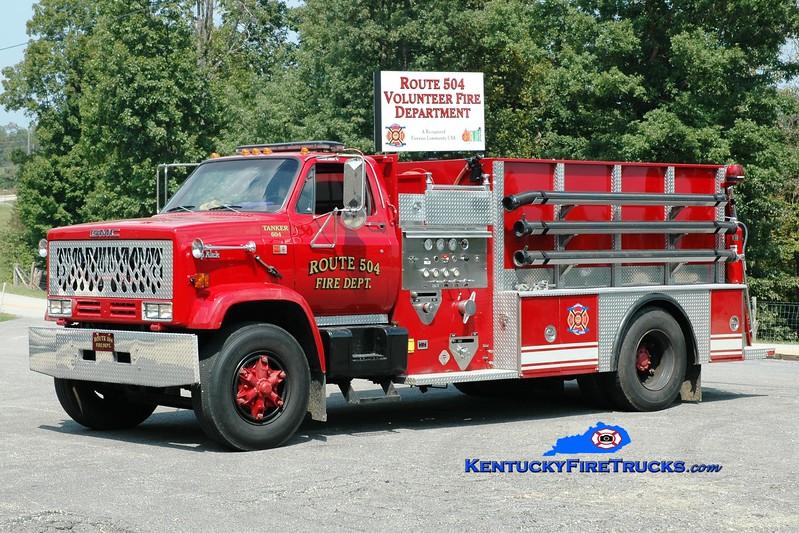 <center> Route 504  Tanker 604 <br> 1982 GMC Topkick/Local 500/1500 <br> Greg Stapleton photo <br> </center>