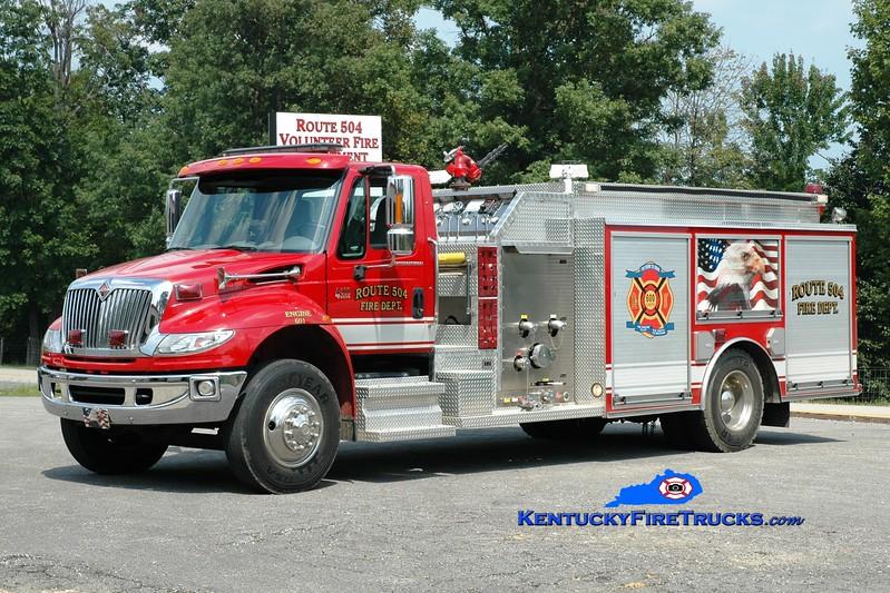 <center> Route 504  Engine 601 <br> 2006 International 4400/Wynn 1250/1250 <br> Greg Stapleton photo <br> </center>