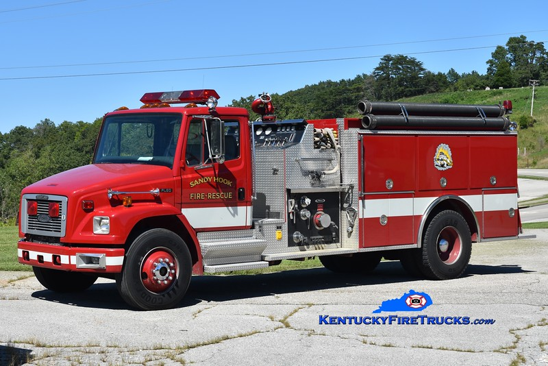 Sandy Hook Engine 3 <br /> x-Monroe Twp, IN<br /> 1995 Freightliner FL80/Pierce 1250/1000<br /> Greg Stapleton photo