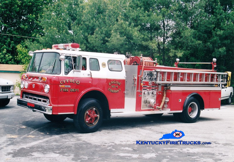 <center> RETIRED <br> Sandy Hook  Engine 4 <br> x-Ashland, KY <br> 1977 Ford C-8000/Sutphen 1000/500 <br> Greg Stapleton photo <br> </center>