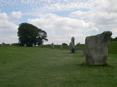 Large stone circle at Avebury… the largest stone circle in the world.