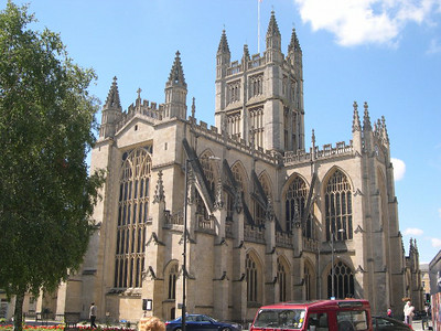 Bath Abbey, begun in 1090 by the Norman conquerors, was completed in 1611.