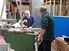 Alan passes on woodworking tips to Gary
