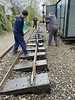 Replacing  old sleepers at Delph