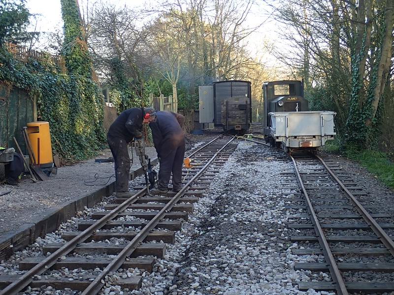 Hammer-packing  at Delph station