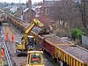 Renewing rail at Southport