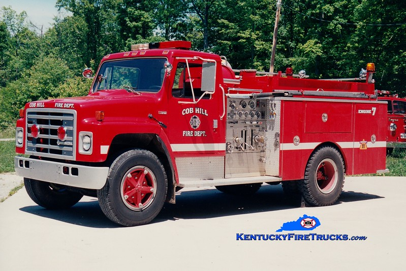 <center> Cob Hill  Engine 7 <br> 1982 International S/FMC 750/750  <br> Greg Stapleton photo </center>