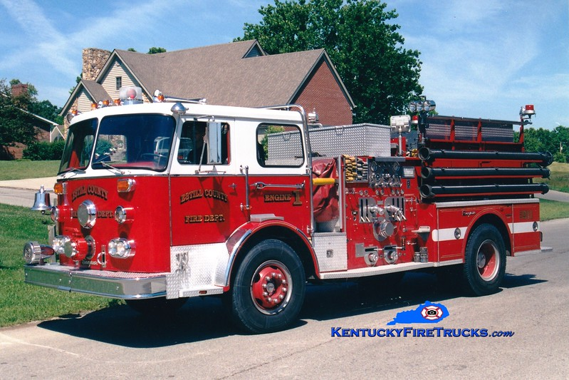 <center> RETIRED <br> Estill County  Engine 1 <br> x-Long Ridge, CT <br> 1975 Seagrave PB 1250/1000 <br> Greg Stapleton photo </center>