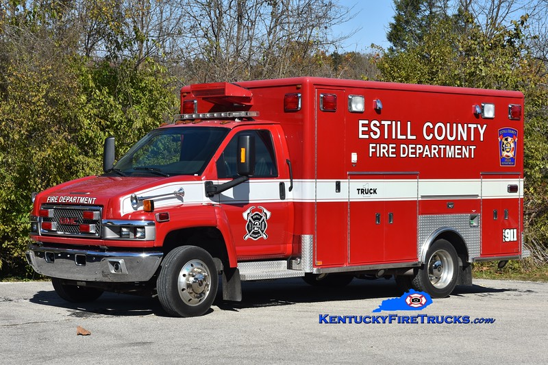 Estill County Truck 10 <br /> 2007 GMC 5500/Horton  <br /> Greg Stapleton photo