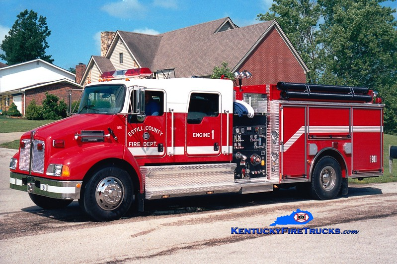<center> Estill County  Engine 1 <br> 2005 Kenworth T-300/Pierce 1250/1000 <br> Greg Stapleton photo </center>