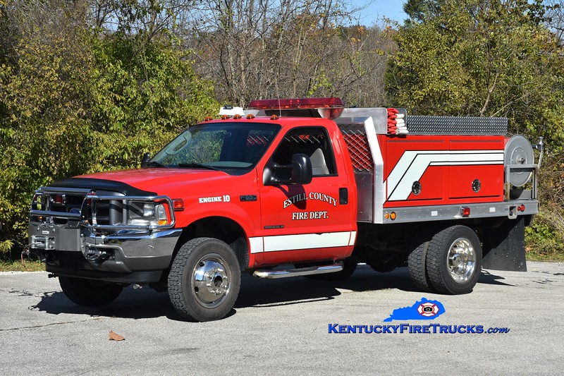 Estill County Engine 10 <br /> 2002 Ford F-550 4x4/Fouts Bros/2016 ECFD 250/300 <br /> Greg Stapleton photo