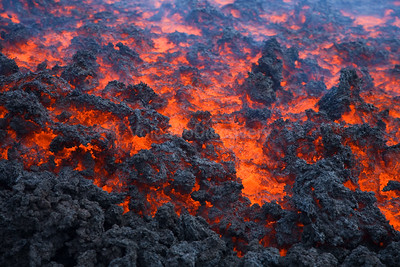Lava flow close-up