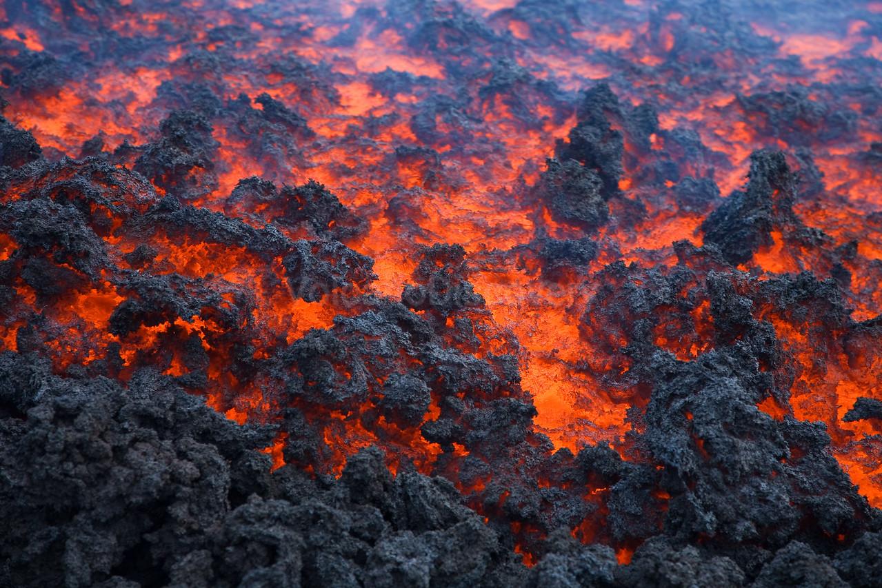 Lava flow close-up