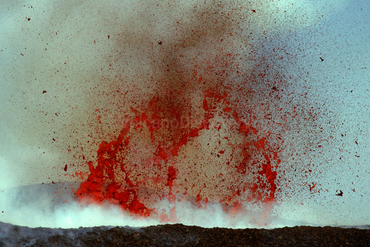Exploding lava bubble