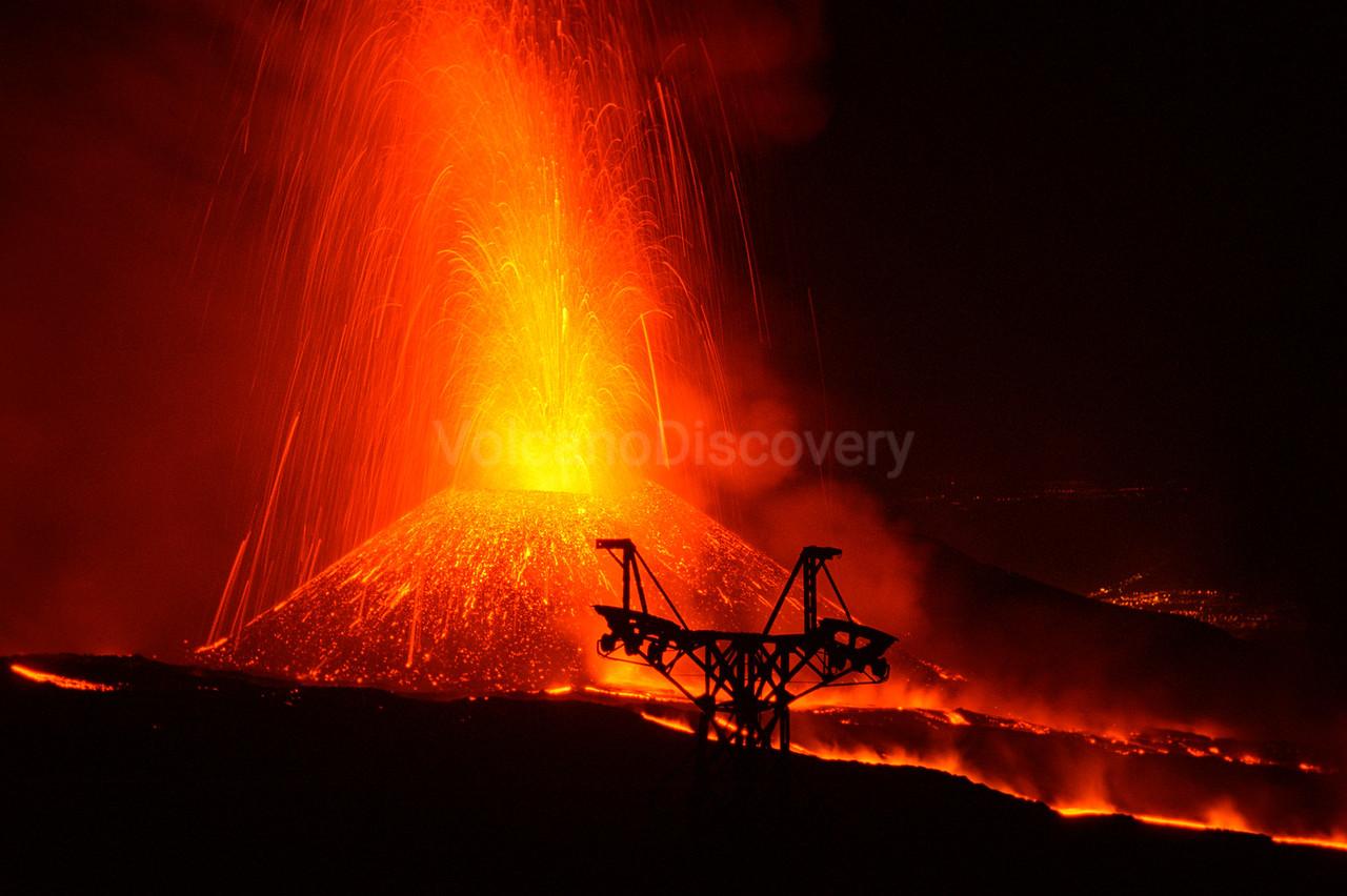 Cono del Lago eruption