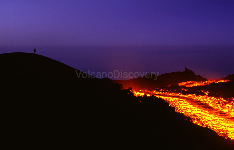 Evening lava flow
