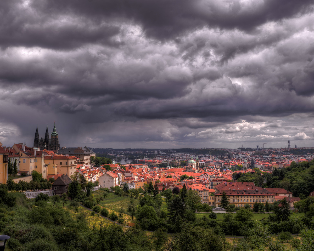 Brewing Storm Behind Prague