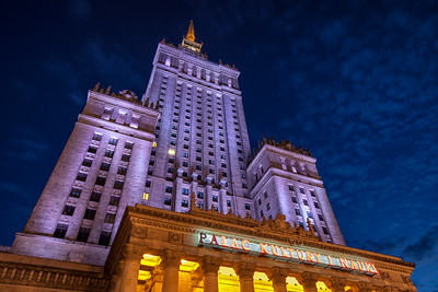 The best-known and, for some at least, most-reviled building in Warsaw, the Palace of Culture and Science, which was built in the 1950s following the Soviet occupation of Poland.