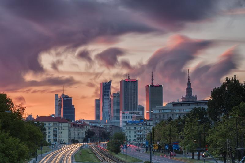 Warsaw Sunset Cityscape 2