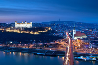 A view overlooking the old town in Slovakia's capital, Bratislava.