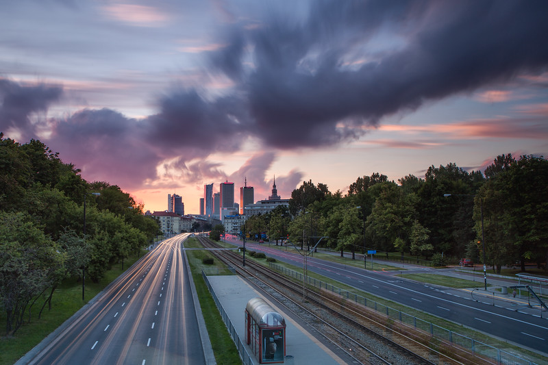 Warsaw Sunset Cityscape 1