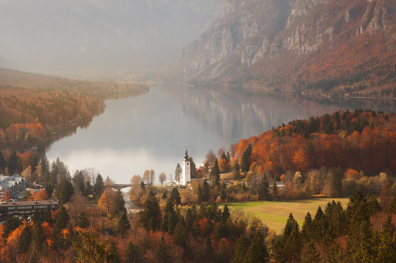 Autumn at Lake Bohinj