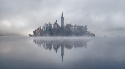 A Misty Morning at Lake Bled