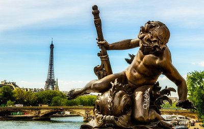 A view from the Pont Alexandre III, Paris