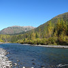 Fall colors and warm sunshine along Sixmile River