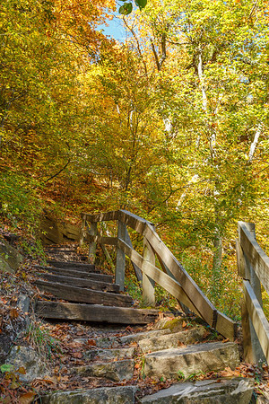 Beautiful fall colors throughout Ledges State Park